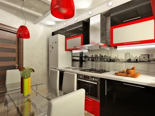 красная кухня фото 4