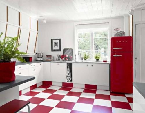 красная кухня фото5