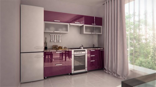 кухня в одну линию3
