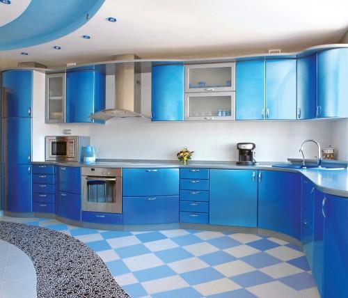 синяя кухня 1