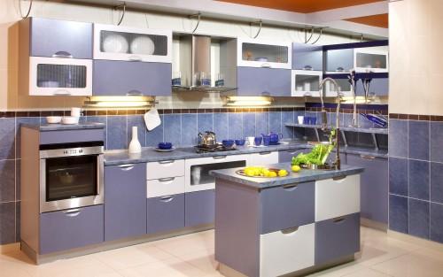 синяя кухня 10