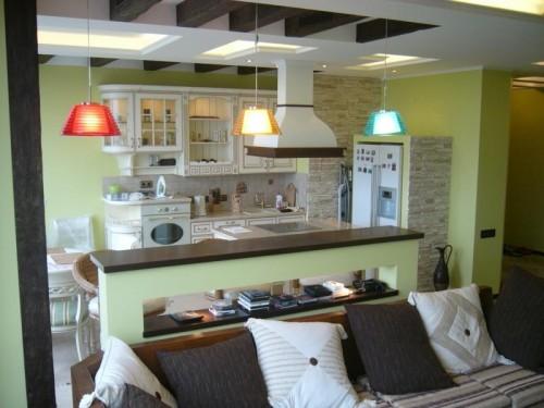 объединение гостиной и кухни1