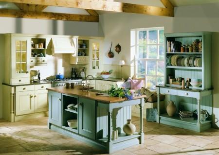 Дизайн кухни в стиле Английский коттедж