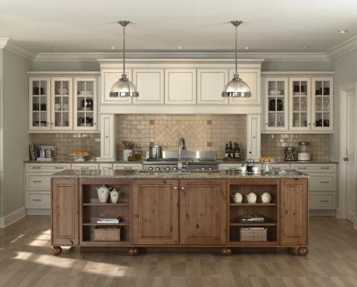 белая кухня в индустриальном стиле