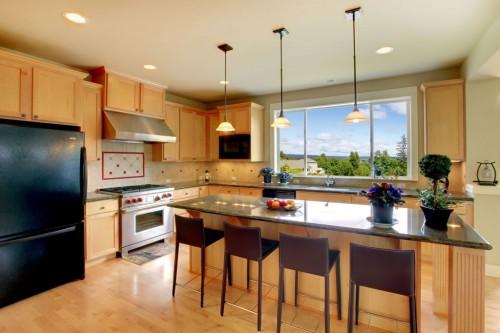 кухня в индустриальном стиле из дуба