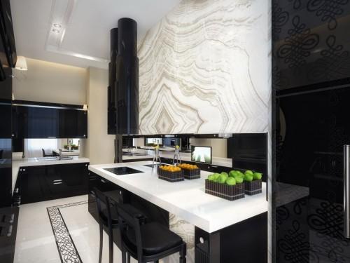 маленькая кухня в стиле модерн