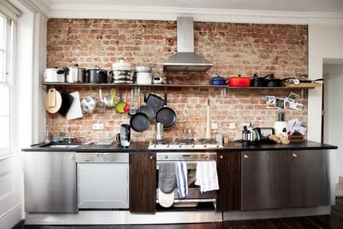 смешанная модерн-индастриал кухня