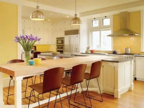 светлая кухня в стиле индастриал