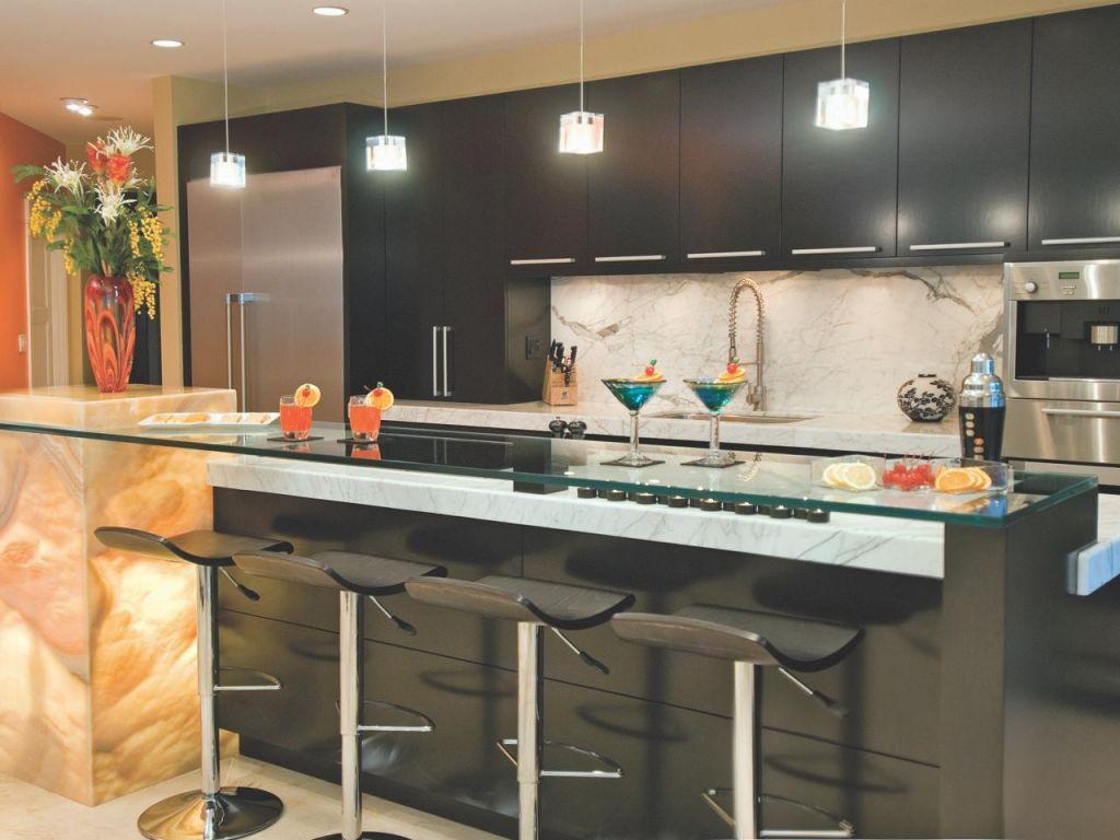 Кухни с бар стойкой дизайн