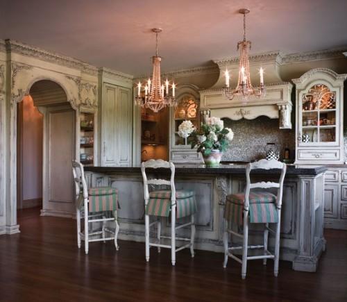 кухня старый свет рустик