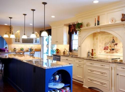 белая кухня в тосканском стиле