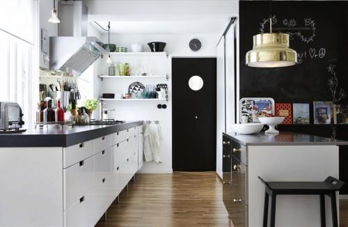 холодный скандинавский стиль кухни