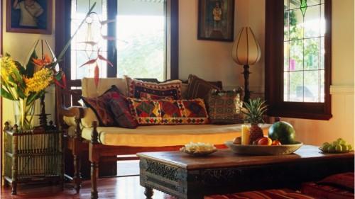 идеи украшения гостиной в индийском этно стиле