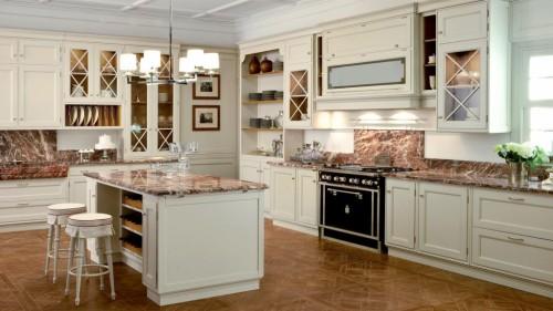 итальянский стиль большой кухни