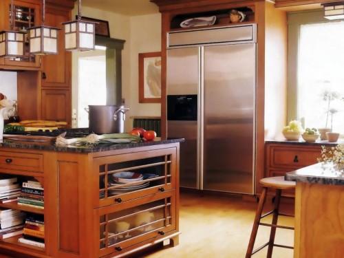 красивая кухня в миссионерском стиле фото