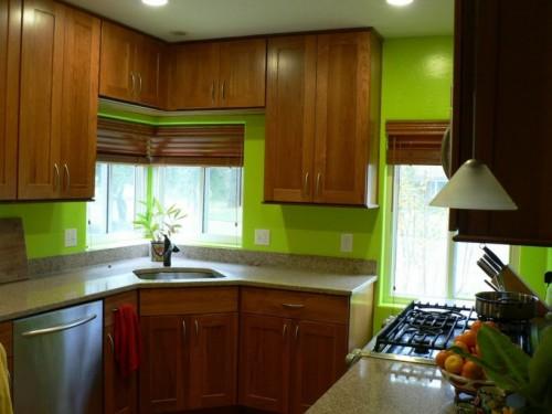 кухня в современном тропическом стиле