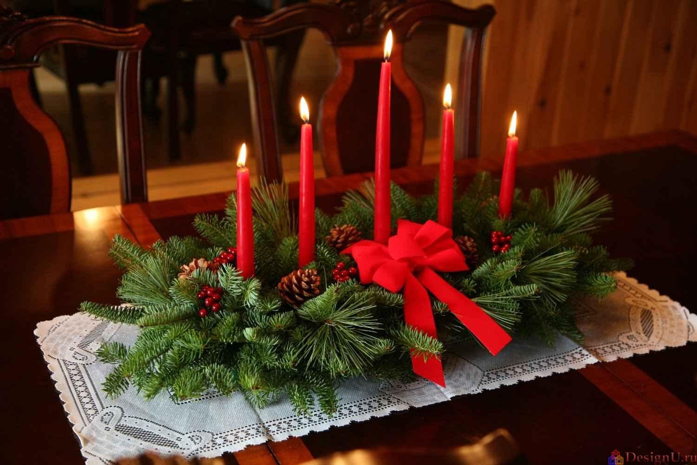 Новогодние композиции на столе своими руками