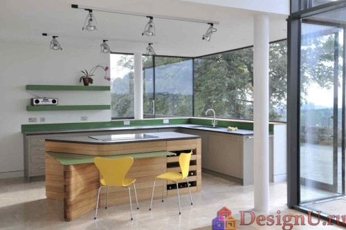 дизайн острова на кухне