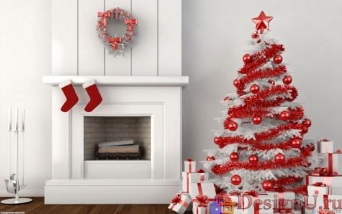идеи декорирования в рождественском стиле