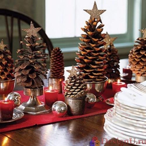 идеи домашнего новогоднего декора украшение стола