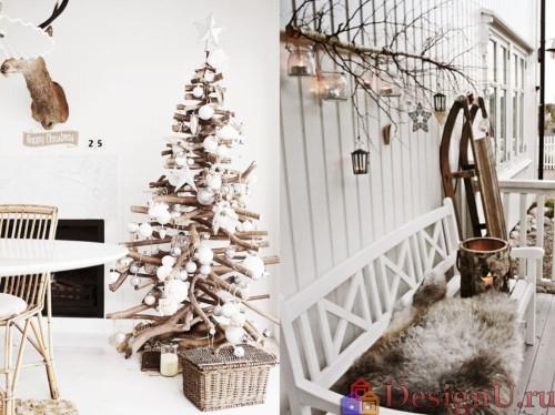 идеи украшения и декора дома к новому году и рождеству