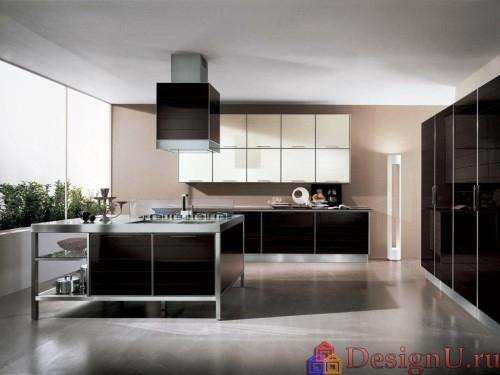 модерн в интерьере кухни с островом