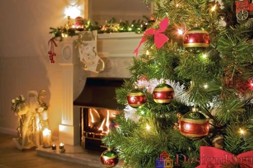 новогодний декор с елкой