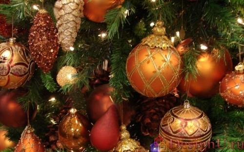 шары на новогодней елке