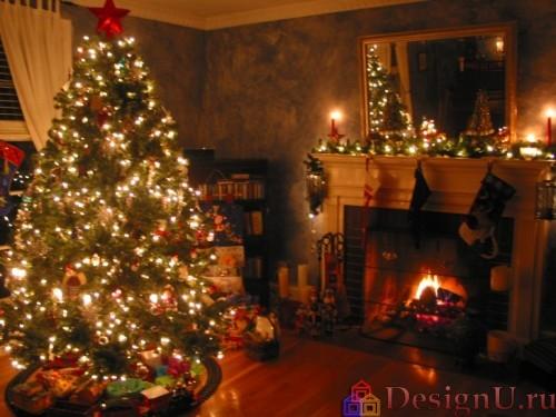 украшение новогодней елки гирлянды