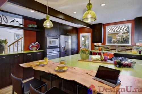 дизайн кухни в стиле эклектика