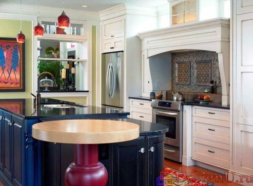 эклектика модерн на кухне