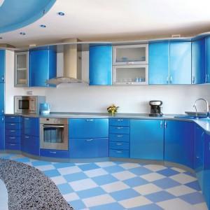 Кухня в синих цветах