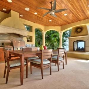 Дизайн кухни в тропическом стиле